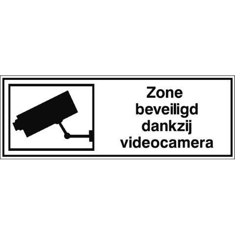 Informatietekens - Zone beveiligd dankzij videocamera - Zone beveiligd dankzij videocamera