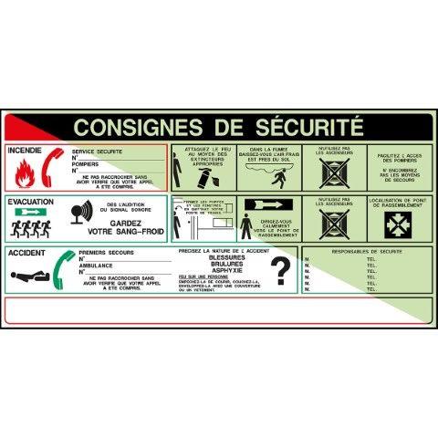 Affiches - Brandbestrijding - CONSIGNES DE SÉCURITÉ...