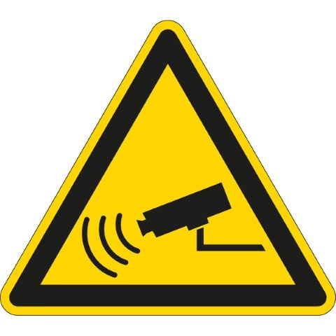 Waarschuwingspictogram - Camerabewaking