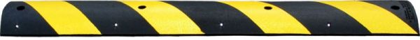 VERKEERSDREMPEL GERECYC RUBBER ZW/GL 1800X305X57MM